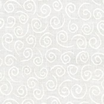 Moda Whispers Muslin Mates Swirl White on White9920-11 Cotton Fabric