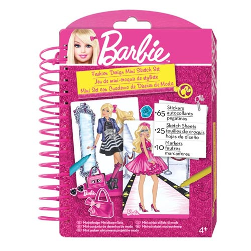 Barbie Fashion Design Mini Sketch Book by Fashion Angels