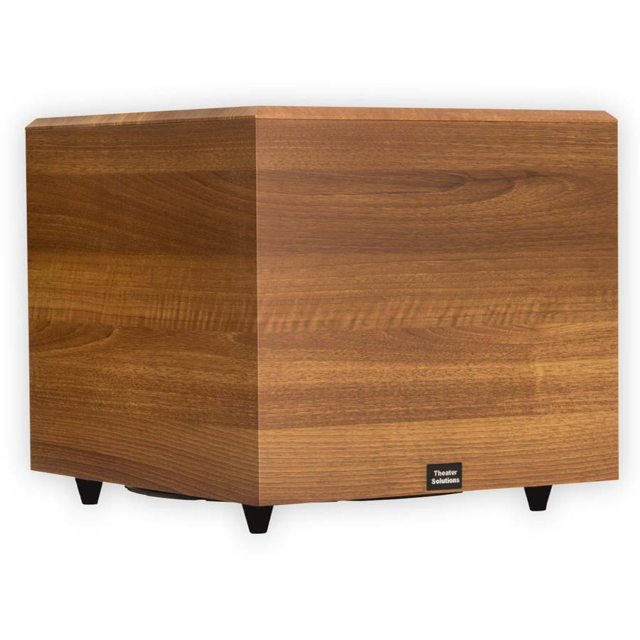 "Theater Solutions SUB15DM Home Theater Powered 15"" Subwoofer Mahogany Sub"