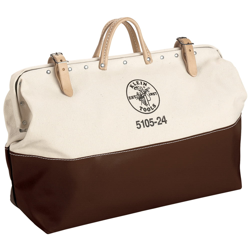 Klein Tools 5105-24 High-Bottom Canvas Tool Bag, 24-Inch by Klein Tools