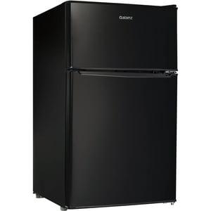 Galanz 3.1 cu ft Compact Refrigerator Double Door, Black