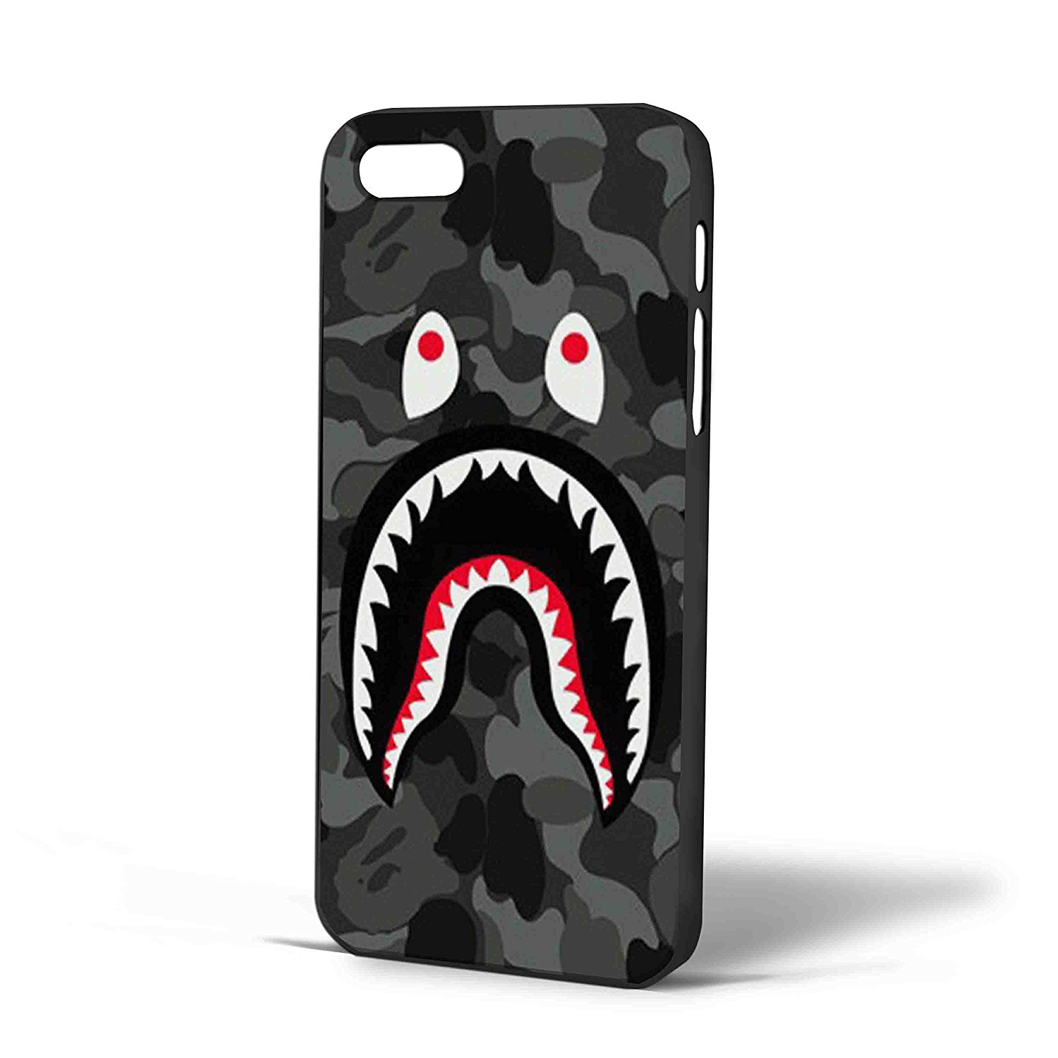 wholesale dealer 489b5 0901b Ganma Bape Shark Black Army Pattern Case For iPhone Case (Case For iPhone 6  plus Black)
