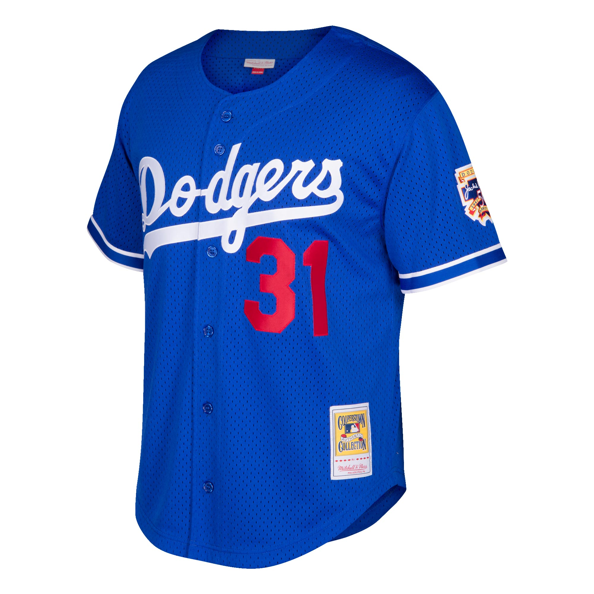 2c64972a297 Mike Piazza Los Angeles Dodgers Mitchell   Ness Cooperstown Collection Mesh  Batting Practice Jersey - Royal - Walmart.com