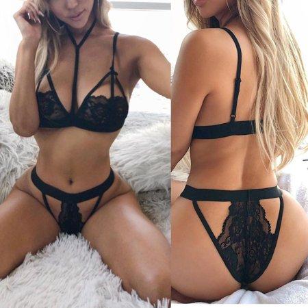 cd1261afaa3 Women Charm Sexy Sissy Lingerie Lace Babydoll G String Thong Underwear  Nightwear - Walmart.com