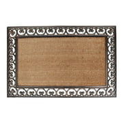 """A1HC First Impression Hand Finished Rubber and Coir Classic Paisley Border Extra Large Double Doormat - 30"""" X 48"""""""