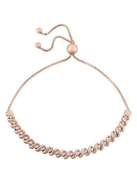 1/4 Carat T.W. Diamond Sterling Silver Bolo Bracelet