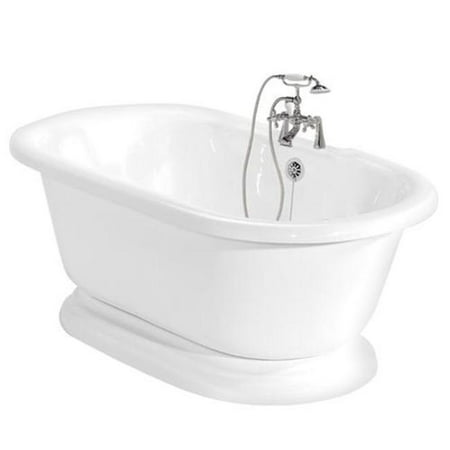 American Bath Factory T110B-CH Beacon Hill Bathtub Faucet - White