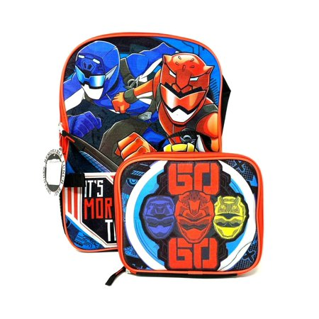 Power Rangers Boys School Backpack Lunch Box Combo Set Black Kids (Boys Backpack And Lunchbox)