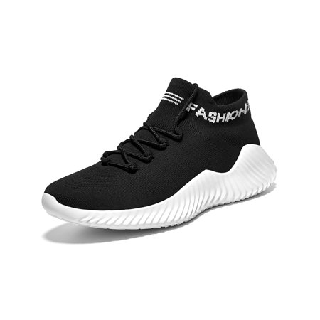 Men's Comfortable Platform Walking Sneakers Lightweight Casual Tennis Sock Fitness Sport Shoes US7-11 (Mens Fitness Shoes)
