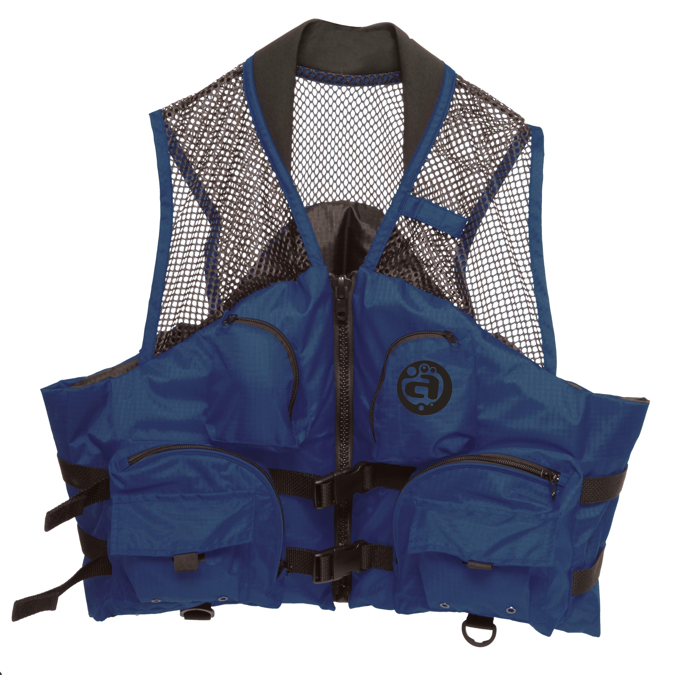 Deluxe Mesh Top Fishing Vest, XS, Navy