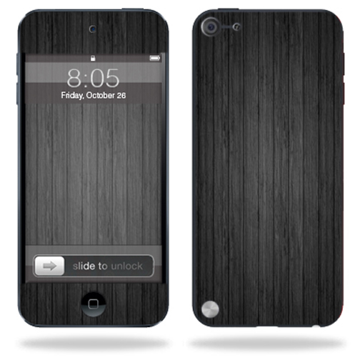 Mightyskins Protective Skin Decal Cover for Apple iPod Touch 5G (5th generation) MP3 Player wrap sticker skins Black Wood