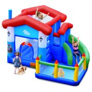 Topbuy Kids Inflatable Bounce House Jump Bouncer Slide Castle Ball Pit without Blower