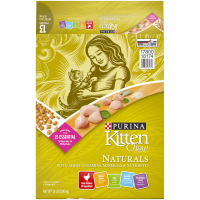 Purina Kitten Chow Natural, High Protein Dry Kitten Food, Naturals Chicken - 13 lb. Bag