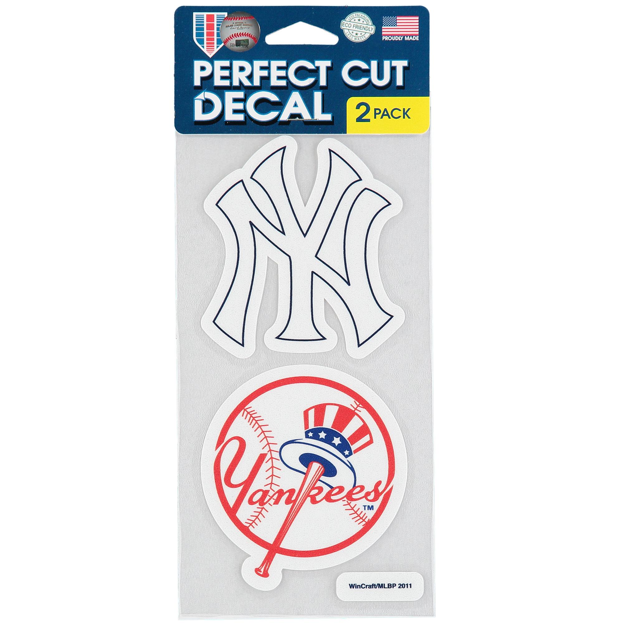 New York Yankees 2-Pack 4'' x 4'' Die-Cut Decals - No Size