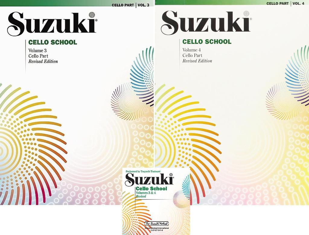 Suzuki Cello School Cello Part & CD Volume 3 4 ,SUZ CELLO PT34CD by Alfred Publishing