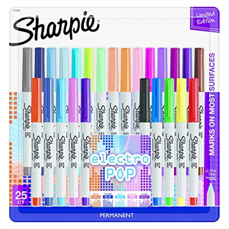Sharpie Ultra Fine Point Permanent Markers, 80's Glam, 24 Colored Markers (80s Glam Sharpies)