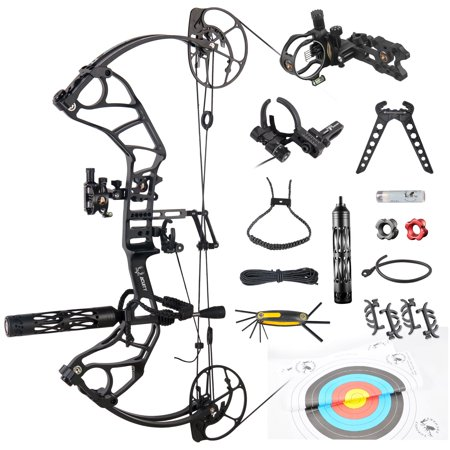 "Acuity High Speed Hunting Compound Bow Package USA Gordon Composites Limb,BCY String,26.5-30.5"" Draw Length,50-60/60-70lbs Draw Weight,IBO 350fps thumbnail"