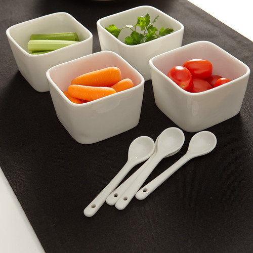 Flato Home Products Deep Appetizer 8 Piece Dish Set