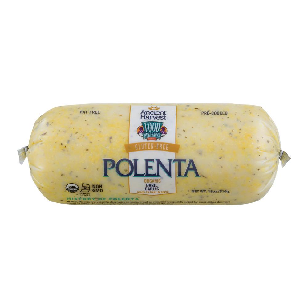 Ancient Harvest Polenta Gluten-Free Basil Garlic, 18.0 OZ