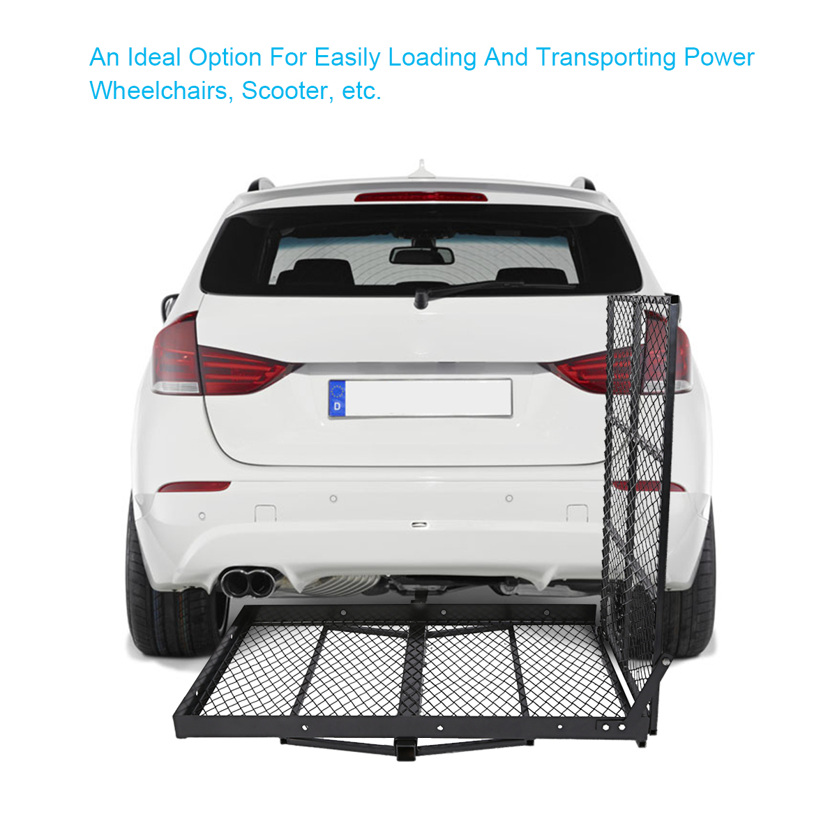 """48"""" x 28"""" Foldable Hitch Mounted Wheel Chair Carrier Mobi..."""