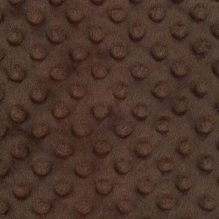 SHASON TEXTILE (2 Yards cut) SOFT CUDDLY MINKY DOT FLEECE, (Brown Striped Fleece)
