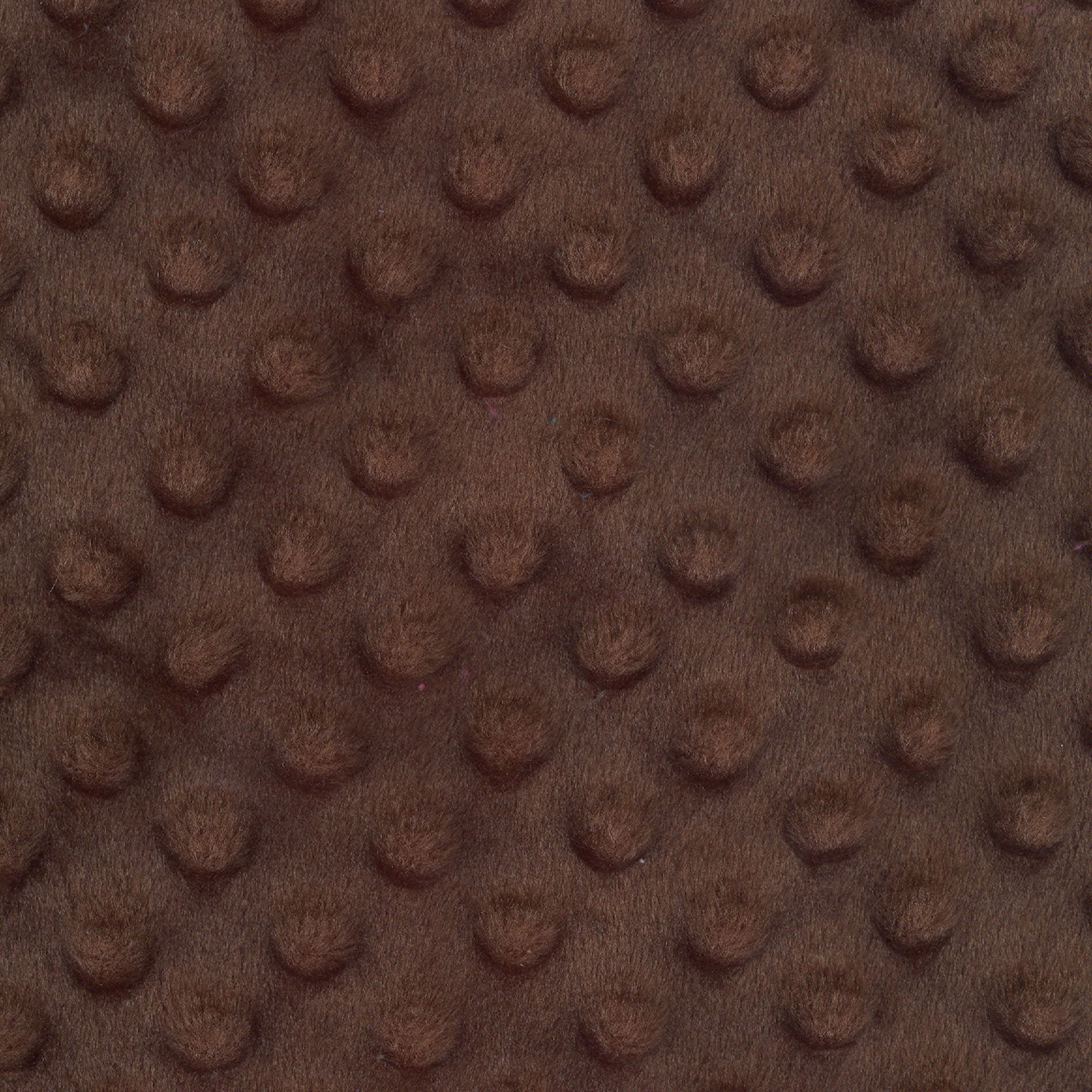 SHASON TEXTILE (2 Yards cut) SOFT CUDDLY MINKY DOT FLEECE, BROWN.