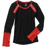 One Step Up Girls' Rib Top With Thumbhol