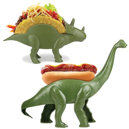 Hot Dog Holders ((Set) Prehistoric Mealtime Tricerataco Taco And Weeniesaurus Hot Dog)