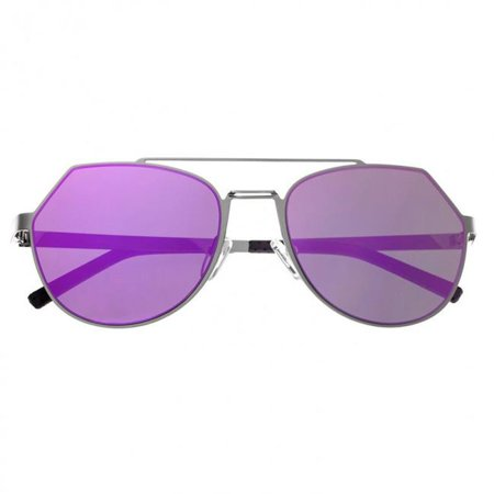 Bertha BRSBR021S Hadley Sunglasses with Nylon Lenses - Silver & Fuschia