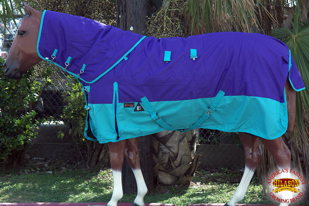 C-D-72 72 in Hilason 1200D Waterproof Turnout Horse Winter Blanket Neck Cover