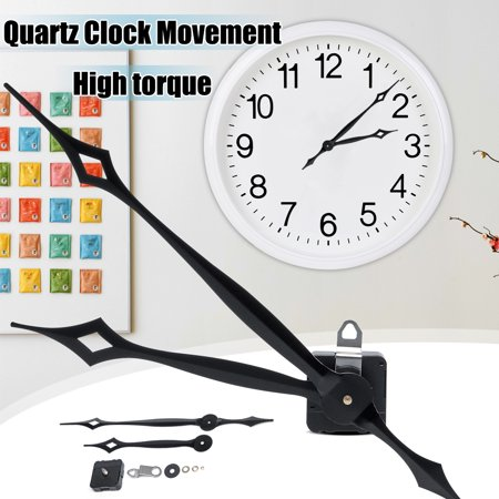 17MM Shaft Length Quartz Clock High Torque Long Shaft Hand Black Movement Mechanism Repair Tools Black Stained Shaft