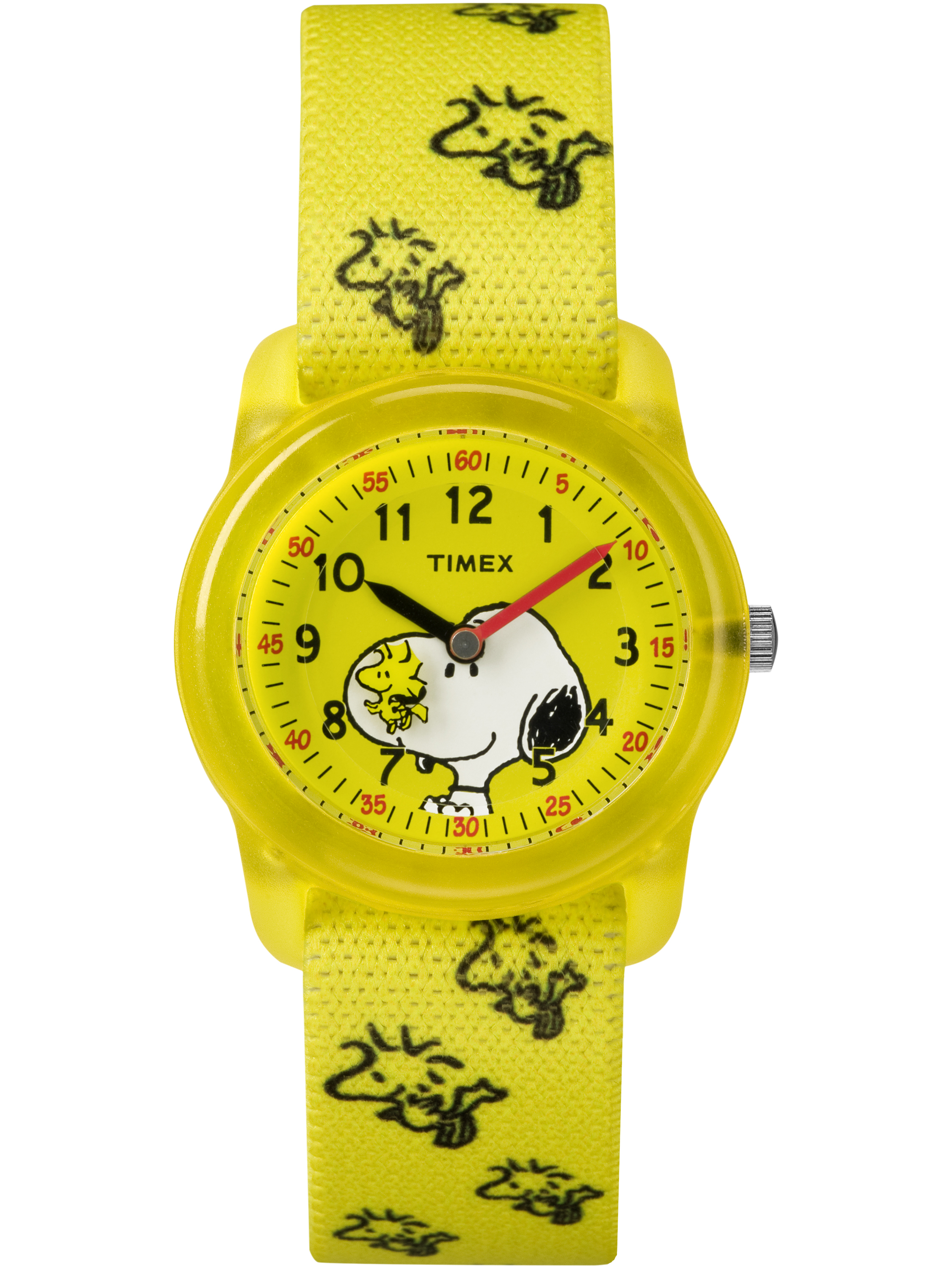 Timex Kids Time Machines x Peanuts: Snoopy & Woodstock Watch, Elastic Fabric Strap