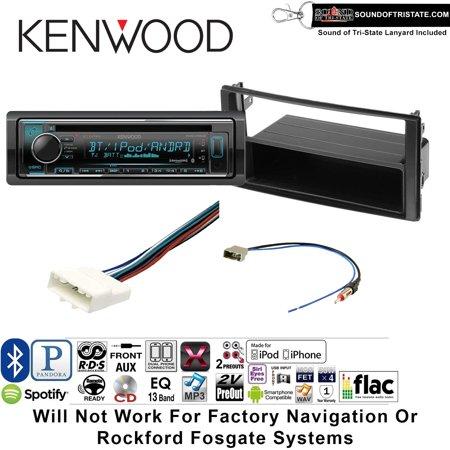 kenwood kdcx302 radio install kit with bluetooth, cd player, usb/aux fits 2013  nissan frontier non s model, titan - walmart com