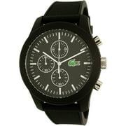 Lacoste Men's 12.12 2010821 Black Silicone Quartz Watch
