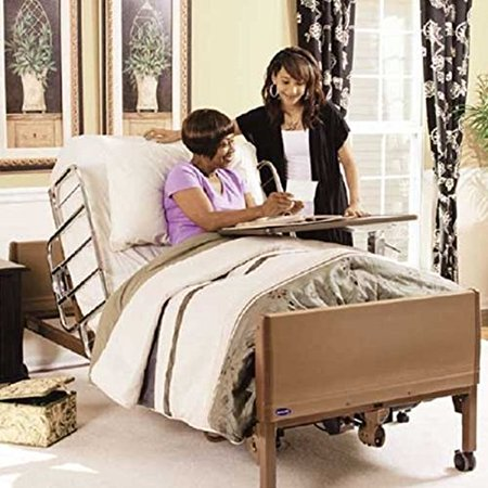 Full Electric Hospital Bed Package (Invacare Full Electric Home Hospital Bed Package w/Foam Mattress, Half Rail Set) (Bed Mattress Hospital Beds)