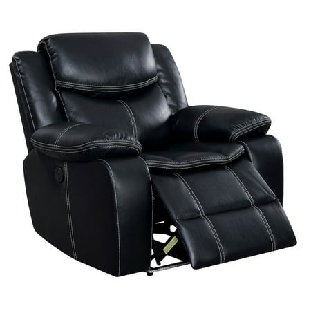 Furniture Of America Stanton Faux Leather Power Recliner