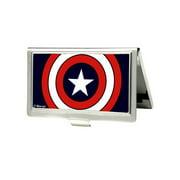 Men's Metal Marvel Captain America Card Case Wallet, Size: one size Captain America