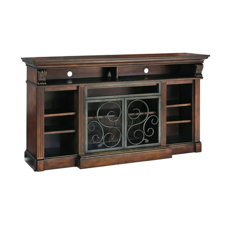 Ashley Alymere 72″ TV Stand in Rustic Brown