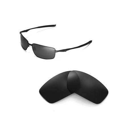 67bb996442 Walleva - Walleva Black Polarized Replacement Lenses for Oakley Splinter  Sunglasses - Walmart.com