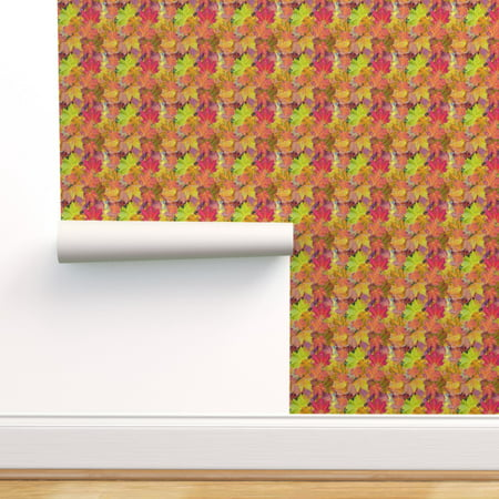 Peel-and-Stick Removable Wallpaper Falling Leaves Fall Colored Leaves Autumn Falling Leaves Wallpaper