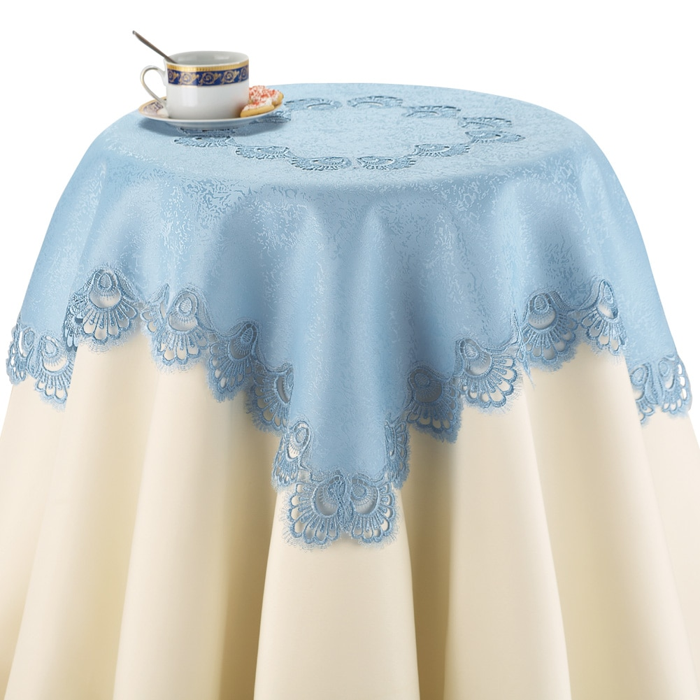 Crochet Lace Kitchen Table Linens, Square, Cream by Collections Etc