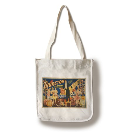 Thurston, Master Magician Out of a Hat Magic - Vintage Theater Advertisement (100% Cotton Tote Bag - Reusable)