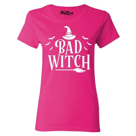 Halloween Witch Graphics (Shop4Ever Women's Bad Witch Halloween Costume Graphic)
