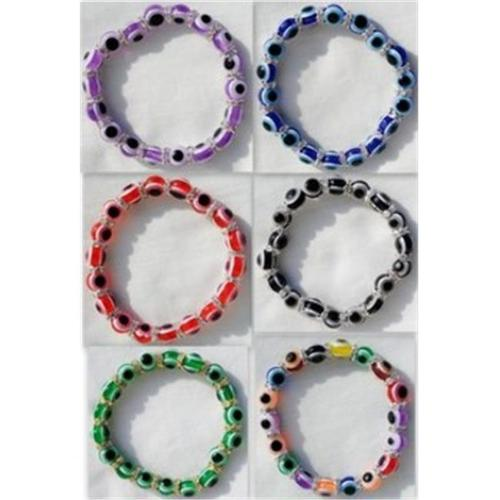 Bulk Buys Wholesale Evil Eye Rhinestone Bracelet - Case of 36