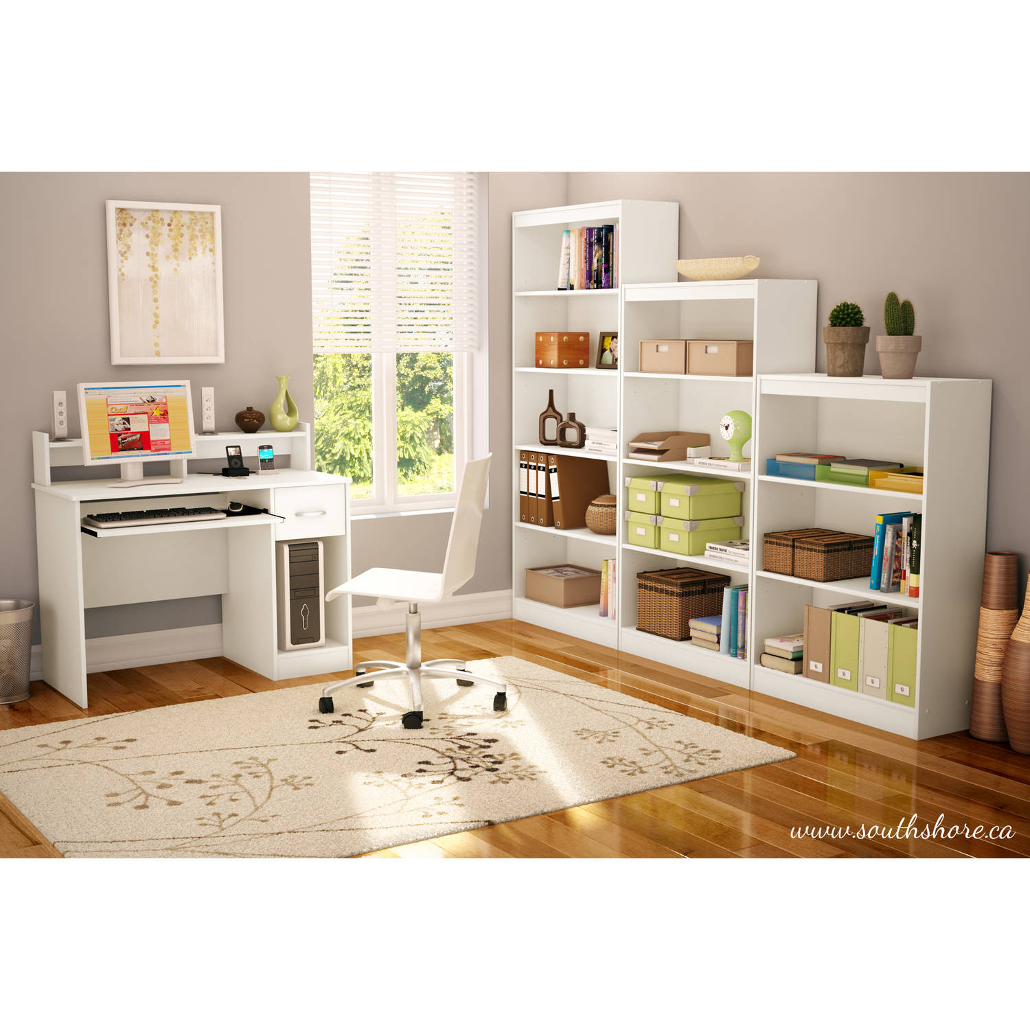 South Shore Smart Basics Home Office and Storage Furniture Collection