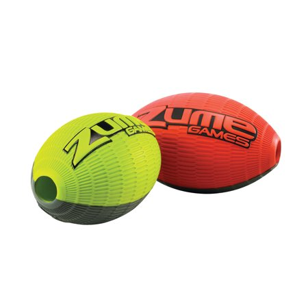 Zume Games Durable Foam Tozz Football Floats in Water Perfect for Ages Six and Up - Green Collegiate Football