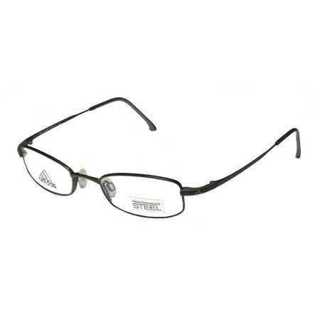 New Adidas A948 Unisex/Boys/Girls/Kids Designer Full-Rim Chocolate / Gray Kids Size Affordable Hard Case Frame Demo Lenses 45-18-125 - Adidas Lens