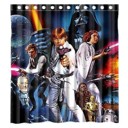 Ganma Movie Star Wars Shower Curtain Polyester Fabric