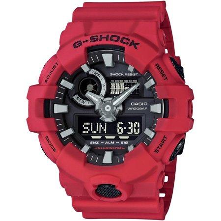 Casio G-Shock Red Digital Analog Watch GA700-4A