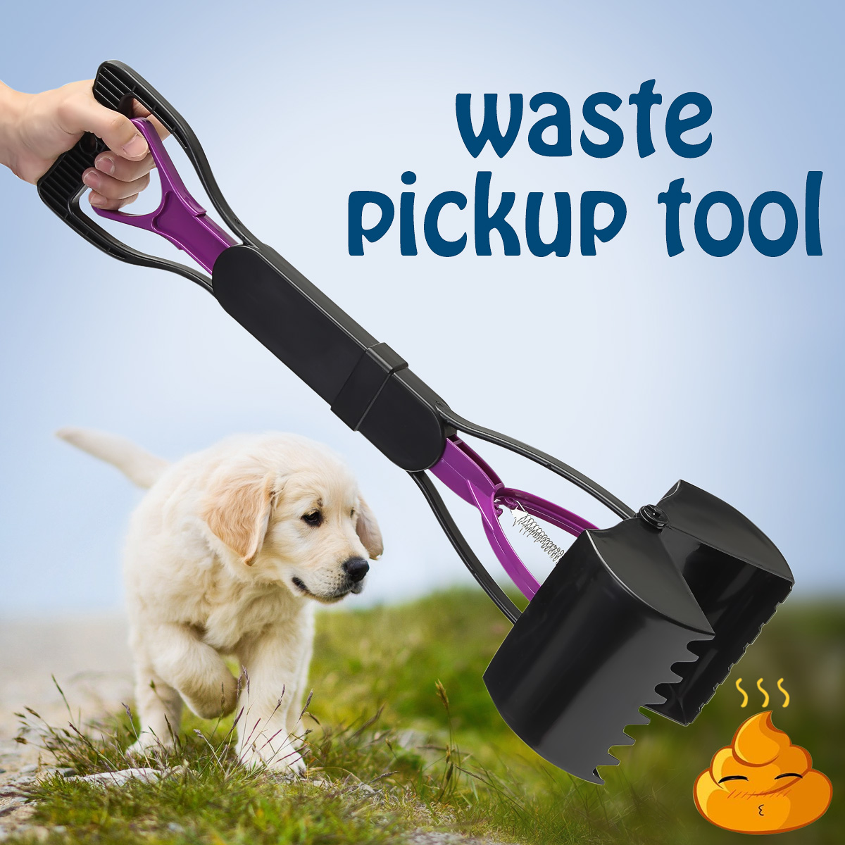 Dog Poop homeampgarden Waste Easy Picker Pickup Pooper Scooper Walking Poo Scoop Grabber Pet